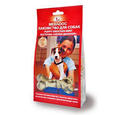 Meradog Mint Puppy Knochen лакомства для собак Косточки Свежее дыхание