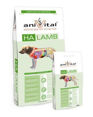 Anivital HA Lamb гипоаллергенный сухой корм для собак с гиперчувствительным пищеварением Ягненок