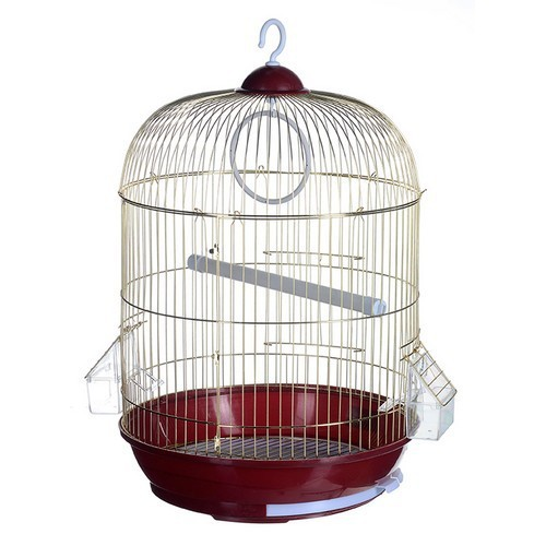 Клетка Kredo для птиц золотая круглая 33х53 см