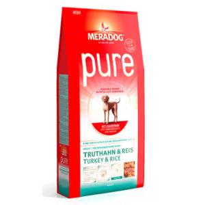 Meradog Pure Turkey and rice гипоаллергенный корм для собак индейка рис