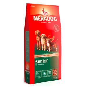 Мерадог Сеньор сухой корм для стареющих собак.