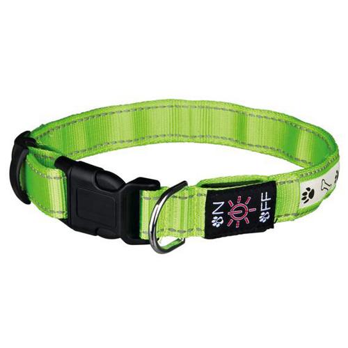 Trixie Светящийся ошейник для собак USB зеленый