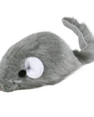 Trixie мышь светло-серая игрушка для кошек 5см