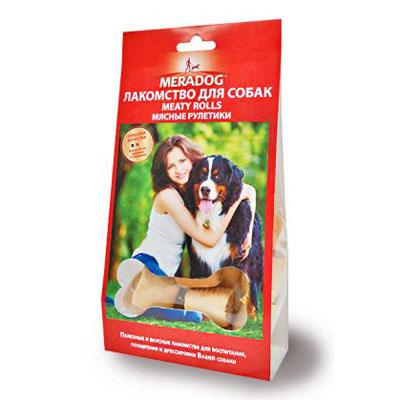 Meradog Meaty Rolls natur лакомства для собак