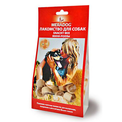 Meradog Snacky mix Мини-роллы