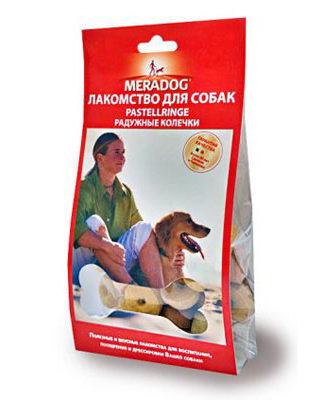 Meradog Pastellringe лакомство для собак Радужные колечки