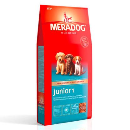Meradog Junior 1 сухой корм для щенков малых и средних пород