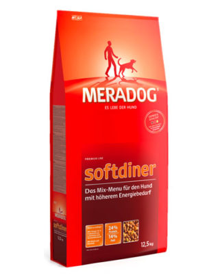 Meradog Premium Mix Menu Softdiner сухой корм для активных собак
