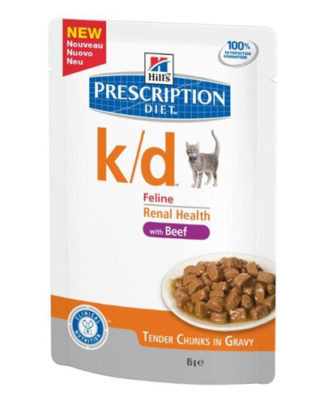 Hill's Prescription Diet k/d Feline с говядиной