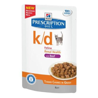 Hill's Prescription Diet k/d Feline с говядиной