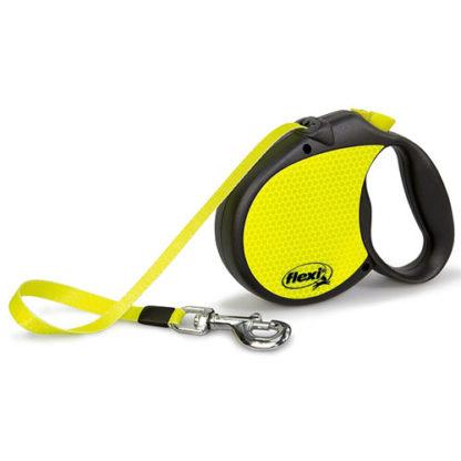Flexi Neon Reflect L 5м лента Рулетка для собак с новым светящимся дизайном