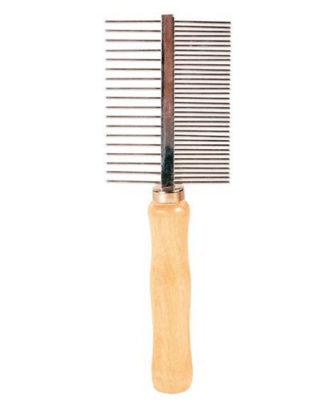 Trixie Расчёска с деревянной ручкой, двухсторонняя 18см для собак