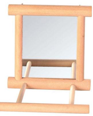 Trixie Зеркало с деревянной рамкой с жердочкой